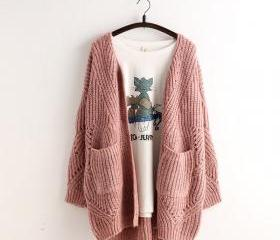 Pocket Loose Knit Ca..