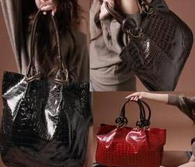 Girls' Leather Tote ..