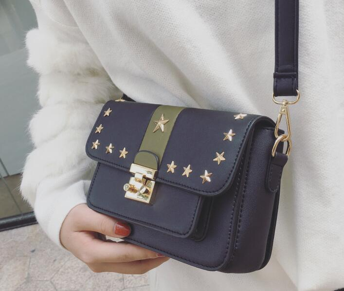 Personality Star Rivet Decoration Cross Body Bag
