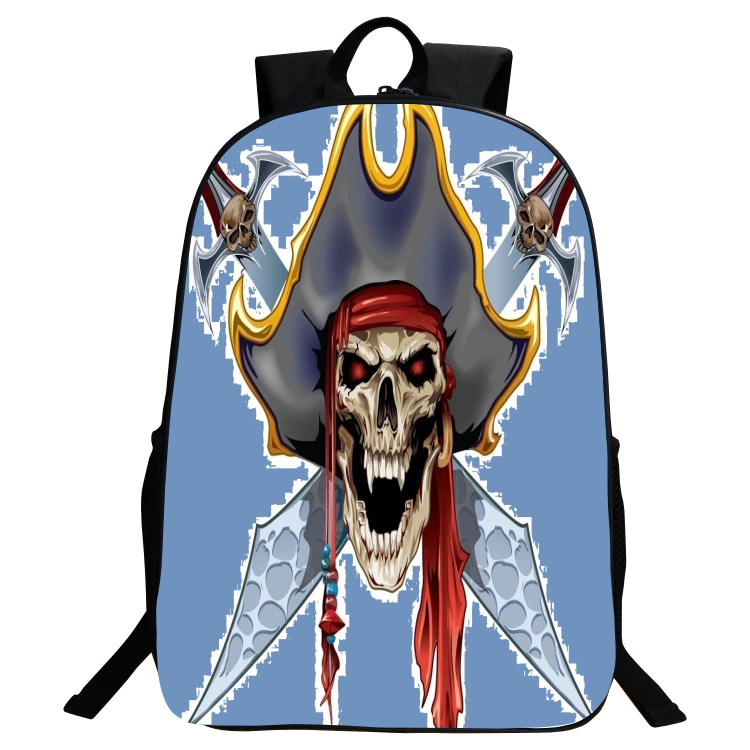 Korean Style Skull Printing Men's Backpack