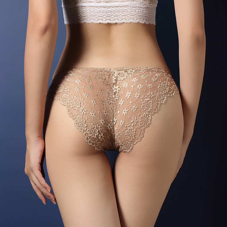36b1f8c76 Sexy lace transparent seduction briefs low waist buttocks hollow T  trousers.(Buy three pieces and send one.)