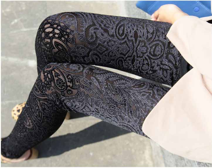 Velvet Legging Tights