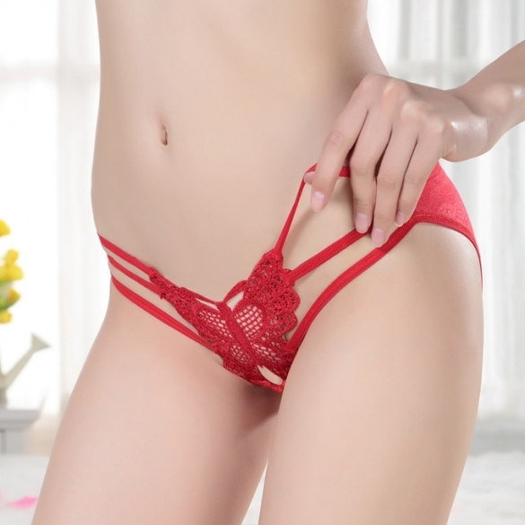 913fab4166a04 Hot Sexy Butterfly Open Crotch Thong G-string Panty Knickers V-string  Underwear