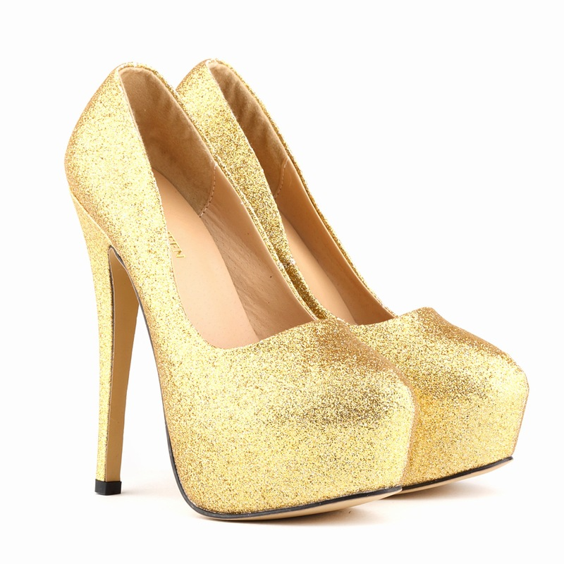 Rounded Toe Glittery and Shimmery Stiletto Pumps, Party Heels