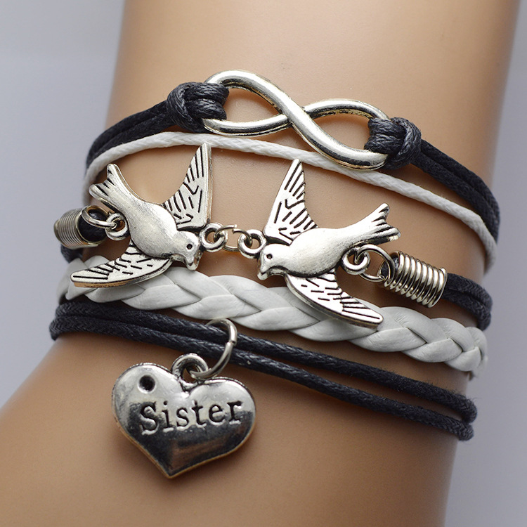 Dove Heart Multilayer Bracelet