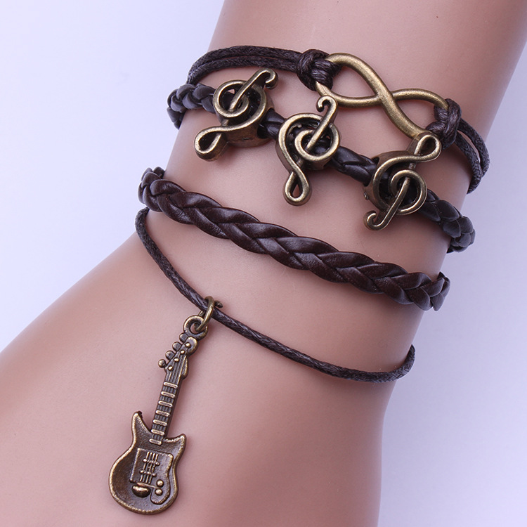 Charming Guitar Music Infinite Woven Bracelets