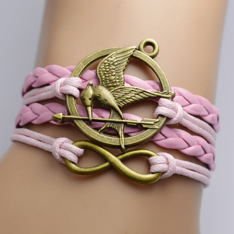 The Hunger Games Pink Rope Multilayer Bracelet