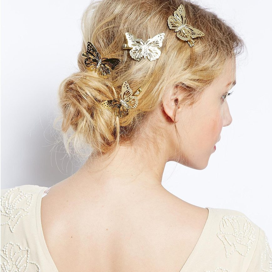 Beautiful Butterfly Golden Hairpin