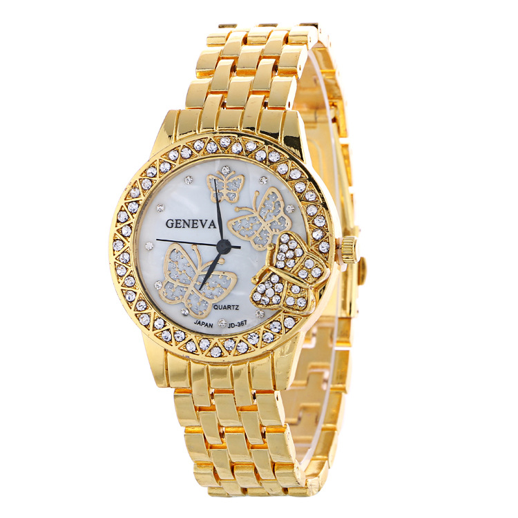 Fashion Butterfly Crystal Alloy Watch