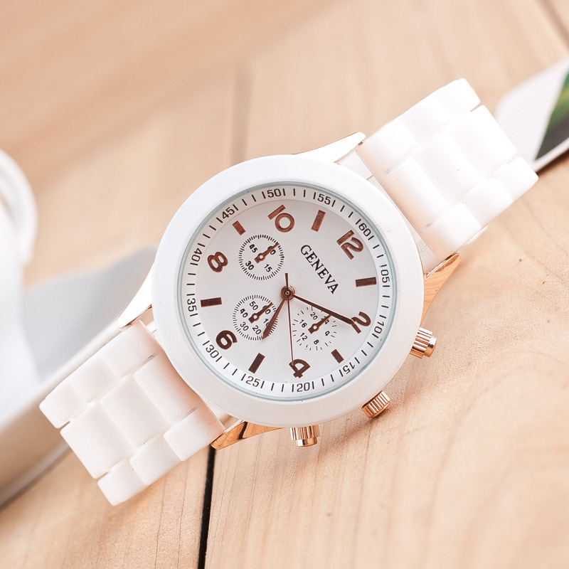 Fashion Colorful Jelly Students Leisure Watch
