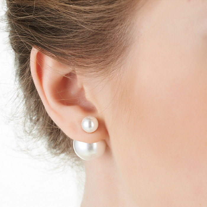 Charming Big Little Pearl Fashion Earrings