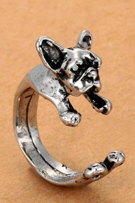 Hot Style Bulldog Pug Opening Lovely Animals Ring