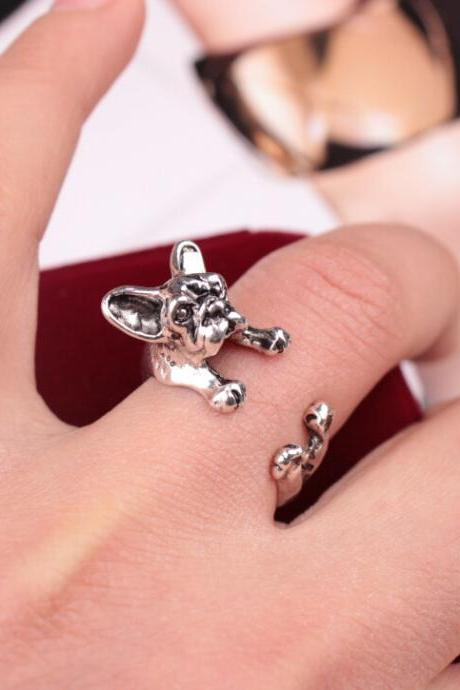Hot Style Bulldog Pug Opening Ring