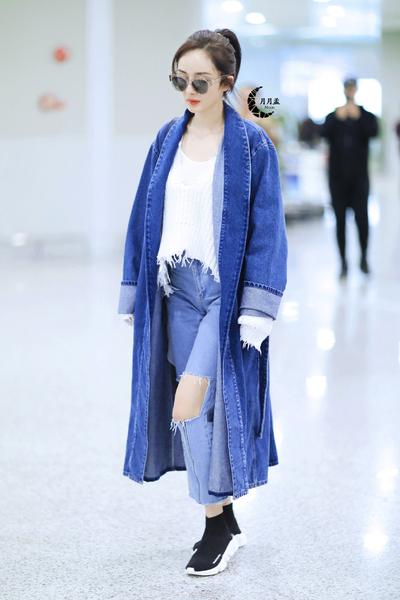 Lapel Long Sleeves Pure Color Belt Loose Long Coat