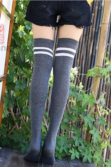 Cotton Non-slip Silicone Their Knee-high Socks