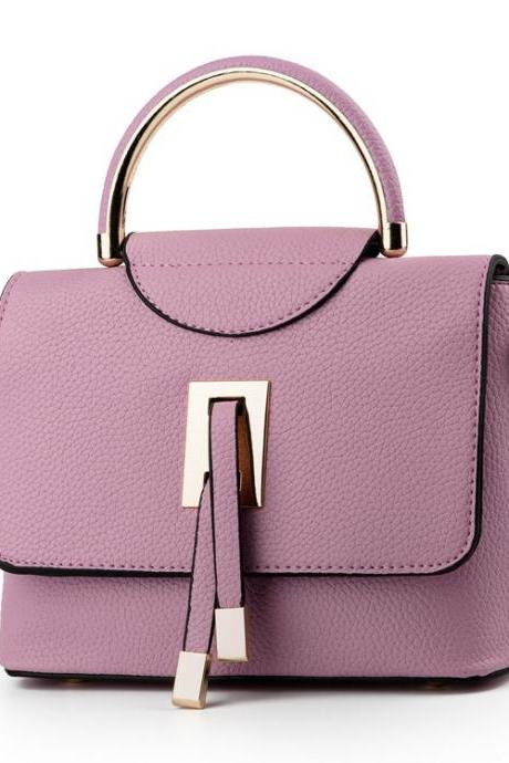 Vogue Solid Candy Color PU Women Satchel