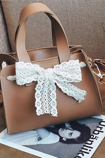 Korean Style Lace Bowknot Women Satchel