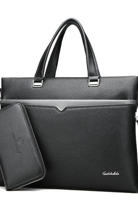 Fashion Briefcase Men's Handbag(Add a man's wallet)