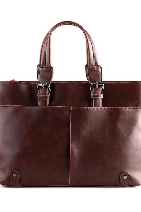 Stylish PU Leather Men's Bag