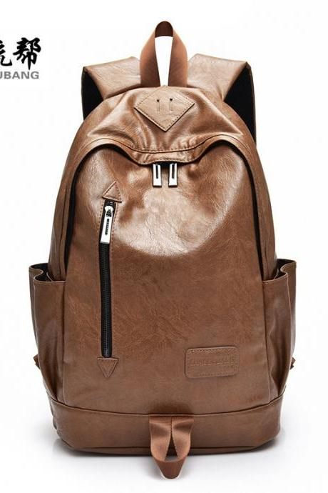 Leisure Style Zipper Men's Backpack