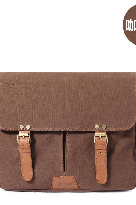 Canvas Waterproof Front Flap Messenger Bag