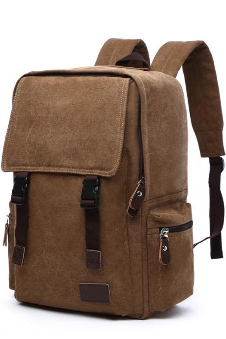 Canvas Soft Durable Men Backpack Bag