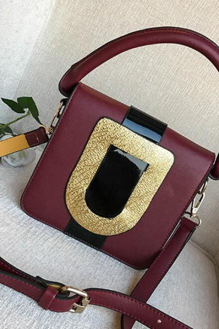 Occident Style Glossy Color Women Satchel