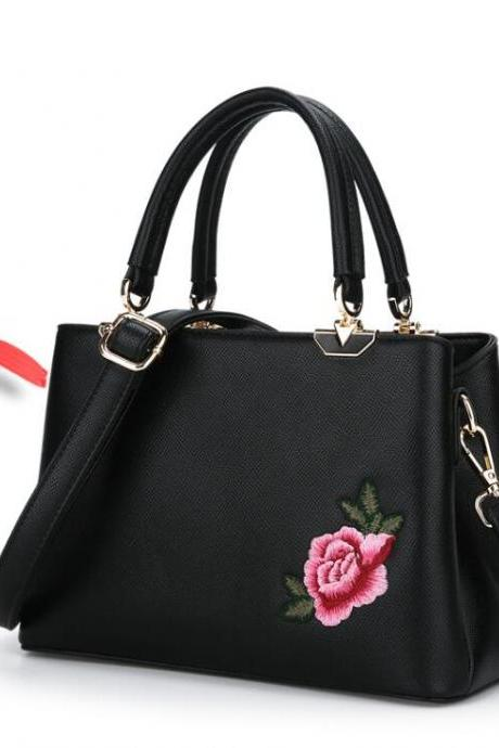 National Style Embroidery Women Satchel