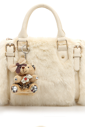 Korean Style Lovely Pendant Plush Women Satchel