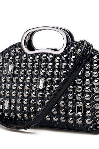 Exquisite Rhinestone Adornment Women Satchel