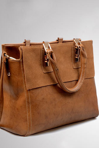Modern Rectangular Tote Bag, Handbag