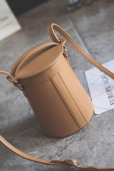 Concise Mini Bucket Crossbody Bag
