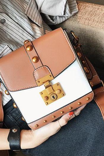Punk Style Rivet Decoration Crossbody Bag