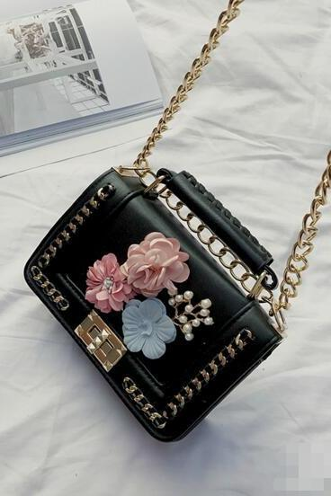 Stylish Floral Adornment Women Crossbody Bag