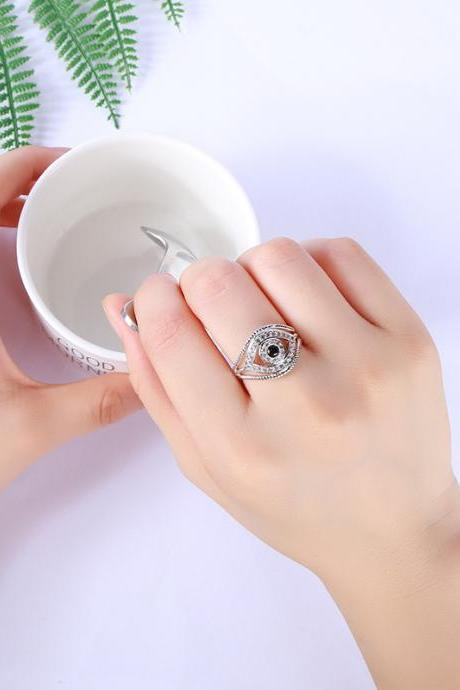 Eye Of The Demon Zircon Diamond Ring