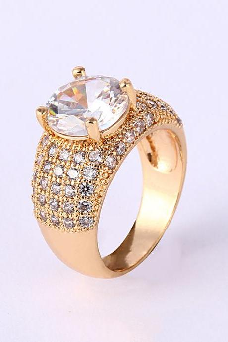 Creative Custom Real Gold Plated Ring