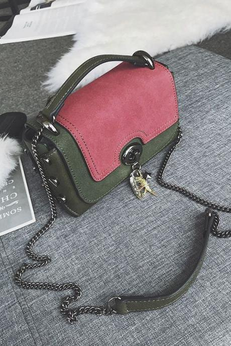 Color Block Mini Women Crossbody Bag