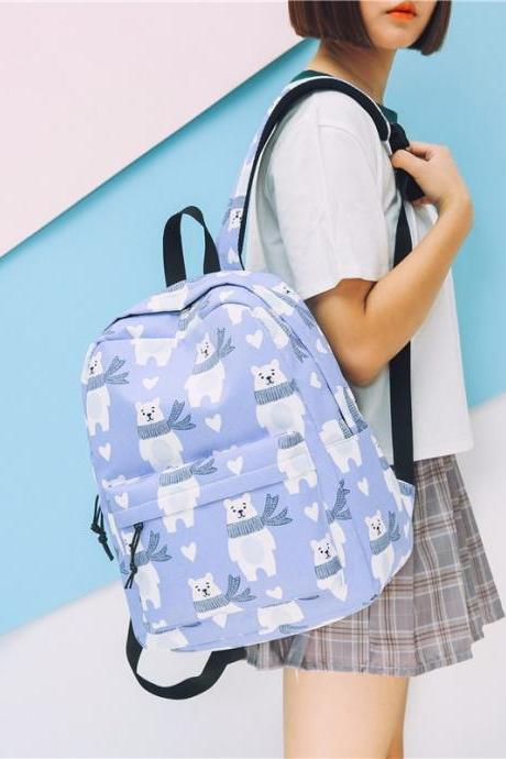 Animal Prints Nylon Unisex Backpack
