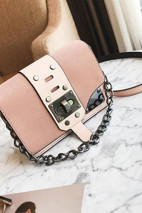 Occident Style Chain Matting Crossbody Bag