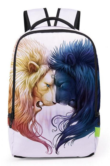 Unusual Style Personality Printing Backpack