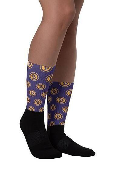 Fashion Bit Virtual Currency Bitcoins Socks