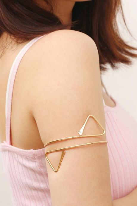 Geometric Triangle Adjustable Arm Bracelet