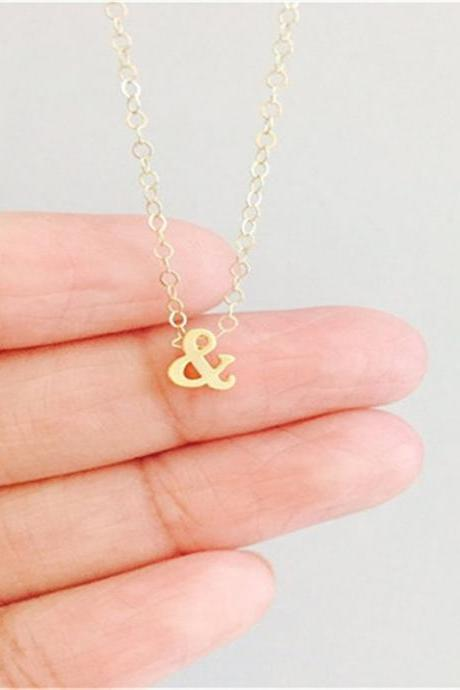 Simple Personality Letter Necklace
