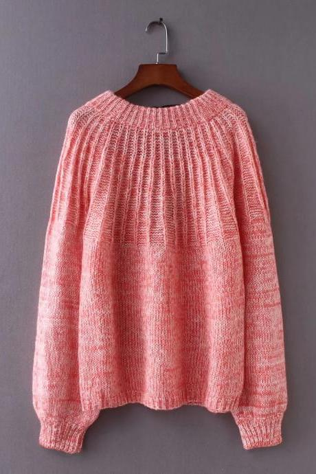 Mohair Backless Straps Bowknot Long Lantern Sleeves Women Pullover Sweater