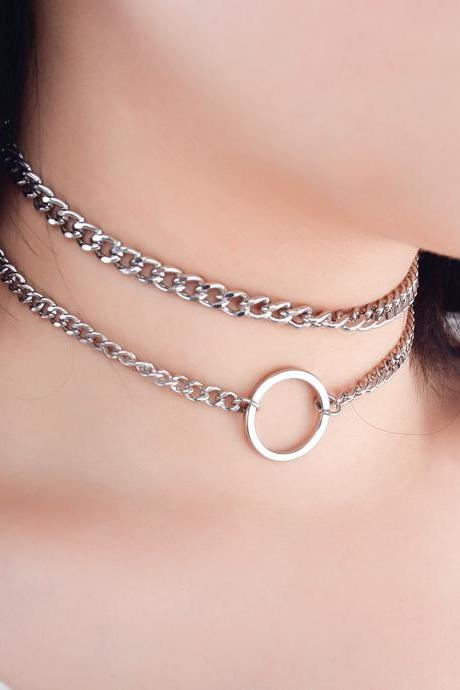 Personalized Metal Chain Collarbone Necklace