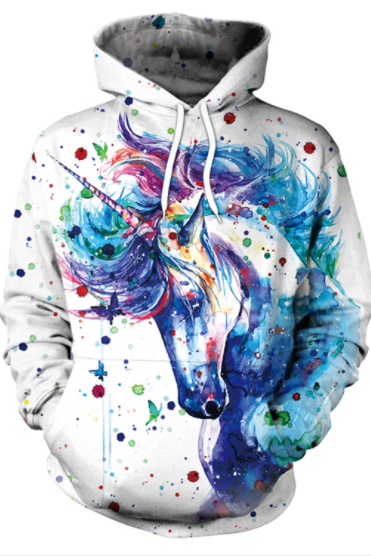 3D Cartoon Print Women Drawstring Hoodie