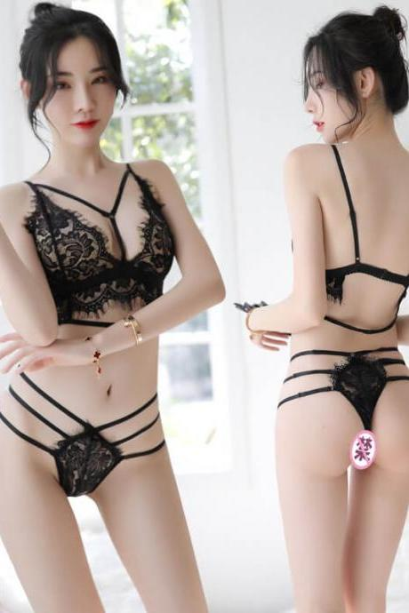 Sexy Lingerie Lace Nightwear Teddy Open Crotch Sleepwear