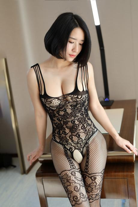 Sexy Backless Lace Hollow Club wear Jumpsuits