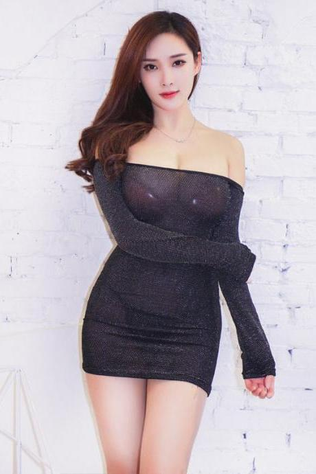 Sexy off-shoulder underwear Club Mini Dress(Q2020201)