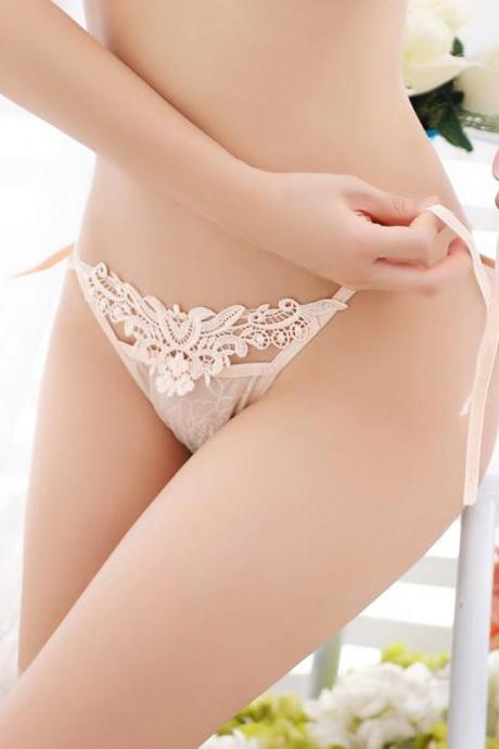 Sexy Lace Low waisted panties women's seductive t-pants(Q2020296)